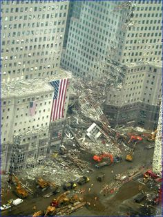The World Financial Center Collapsed and Destroyed in The Attacks on The World Trade Towers Directly Across The Street. Photo Taken: September 2001
