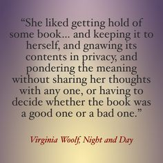 Virginia Woolf-Night and Day