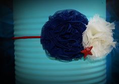 Fourth of July headband blue by alexanoelboutique on Etsy, $15.00