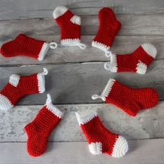 These easy and quick crochet Christmas ornaments are ideal for just a little stashbusting. This simple crochet garland is a terrific means to bring a bit more of the joy of the season in your home. Any ornament may be… Continue Reading → Crochet Christmas Stocking Pattern, Crochet Stocking, Crochet Christmas Decorations, Crochet Christmas Ornaments, Christmas Crafts, Christmas Markets, Holiday Crochet, Christmas Knitting, Felt Ornaments