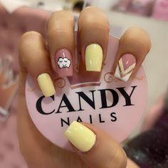 Nail Manicure, Gel Nails, Nail Designs, Nail Art, Candy, Beauty, Work Nails, Enamel, Decorations