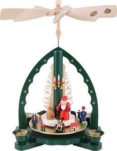 Richard Glaesser Santa and Train Carousel Pyramid Made in Germany -- Click on the image for additional details.