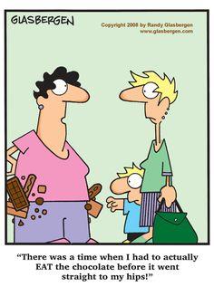 bahaha! | via @SparkPeople #funny #cartoon #humor #chocolate #diet