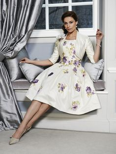 A stunning Mother of the Bride & Mother of the Groom dress from the Portofino High Summer 2016 Collection by Ian Stuart London. This dress has been designed using a cream silk dupion fabric which features a violet rose organza pattern. Paired with matching jacket. Product code ISL691. View more Mother of the Bride / Groom dresses from our Ian Stuart collection at: http://www.baroqueboutique.co.uk/mother-of-the-bride-south-wales/ Photographs courtesy of: http://www.ianstuart-london.com/