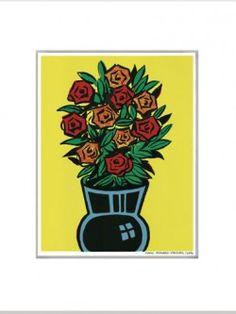 Comic Flowers by Dick Frizzell Kiwiana, Postmodernism, American Art, Wall Decals, Print Design, Fine Art Prints, Comics, Flowers, Image