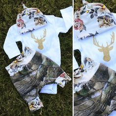 Camo Baby Set, with a Floral Twist
