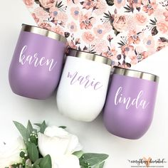 Stemless Wine Cup Insulated Cup for the Pool Outdoor Cup Bridesmaid Gift Wedding Favors Girls Trip Bachelorette Party Bridal Party Gifts for Mom Gifts for Her Wedding Cups, Wedding Favours, Wedding Gifts, Wedding Ideas, Gifts For Girls, Gifts For Mom, Personalized Bridesmaid Gifts, Personalized Items, Cheap Favors