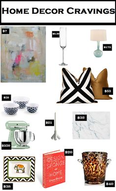 July Home Decor Cravings - candycoatedprada