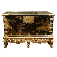 An Unusual Lacquer Chest | From a unique collection of antique and modern lacquer at http://www.1stdibs.com/furniture/asian-art-furniture/lacquer/