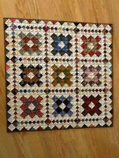 A Quilting Life - 4-patch blocks form border and sashing - clever design