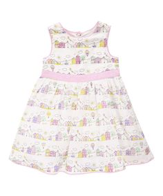 Look at this White & Pink Summer's Day Party Dress - Infant, Toddler & Girls on #zulily today!