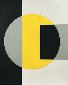 Charles Green Shaw - Black into yellow, 1970 via Mid-centuria