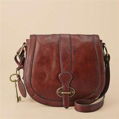 FOSSIL Flap Bag... perfect for the Casual gal who doesn't like to carry bags