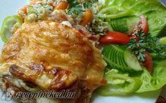 Rakott csirkemell recept Kautz Jozsef konyhájából - Receptneked.hu Lasagna, Bacon, Goodies, Minden, Chicken, Meat, Ethnic Recipes, Food, Lasagne