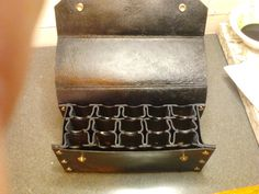 Harmonica Case Genuine Leather Handmade Holder by HawkLeather