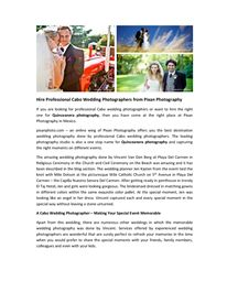 If you are looking for professional #Cabo #wedding #photographers or want to hire the right one for Quinceanera photography, then you have come at the right place at Pixan Photography in Mexico.
