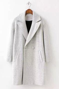 Lapel Woolen Duster Coat