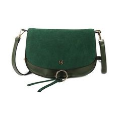 Covered Closure PU Leather Metal Crossbody Bag ($30) ❤ liked on Polyvore featuring bags, handbags, shoulder bags, green cross body purse, metal purse, green crossbody, green shoulder bag and pu leather handbag