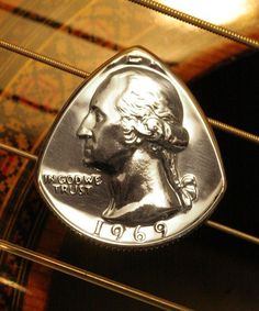 Coin Guitar Pick USA Quarter ... Guitar, Mandolin, Banjo, Ukulele, Dulcimer ... Your Choice Any Date 1965-2013 on Etsy, $10.00
