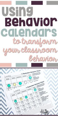 Instead of filling out daily behavior charts, let your students take responsibility for their own action! These will help you behavior management system tremendously!