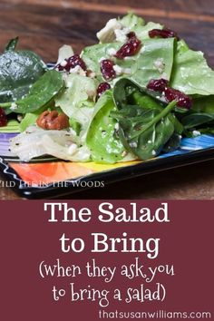 The Salad to Bring.when they ask you to bring a salad.The Salad to Bring.when they ask you to bring a salad.The Salad to Bring. Lettuce Salad Recipes, Salad Dressing Recipes, Salad Dressings, Side Salad Recipes, Green Salad Recipes, Recipe For Salad, Winter Salad Recipes, Italian Salad Recipes, Recipe Recipe