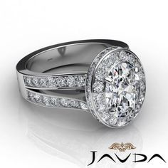 Halo-Pave-Set-Oval-Diamond-Engagement-Split-Shank-Ring-GIA-F-VS2-Platinum-2-8ct