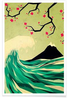 Falling in Love als Premium poster door Yetiland | JUNIQE