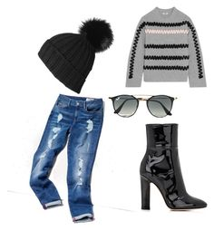 Comfy Cozy Chic by kelley-james on Polyvore featuring polyvore, fashion, style, Kenzo, Tommy Hilfiger, Gianvito Rossi, Black, Ray-Ban and clothing