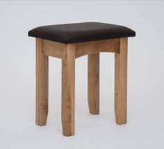 Hereford Oak Dressing Table Stool - Our Hereford Oak Collection is our premium contract bedroom range, available exclusively to our package deal clients. Constructed using 100% solid American White Oak and finished in a subtle satin lacquer, the Hereford Oak collection is the perfect choice for those looking for sleek, contemporary, oak furniture that will last a lifetime.