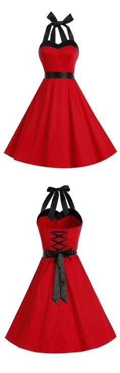 vintage style dress,retro dress,rockabilly dress,50s dress,red dress