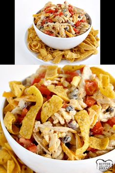 Fiesta Ranch Chicken Pasta Salad is full of fresh southwestern flavors with black beans, corn, cheese and tomatoes. This hearty chicken pasta salad recipe topped with Fritos is perfect as a main dish or a side dish for potlucks and parties! Fiesta Chicken, Ranch Chicken, Chicken Pasta Salad Recipes, Chicken Pasta Casserole, Salad Chicken, Recipe Chicken, Ranch Pasta, Orzo, Sin Gluten