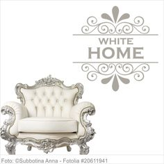 Möbeltattoo - White Home mit Ornament Shabby Chic