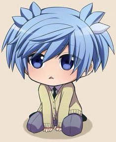 chibi nagisa from ass class Anime Chibi, Anime Meme, Otaku Anime, Manga Anime, Manga Kawaii, Chibi Boy, Anime Guys, Anime Art, Classroom Memes