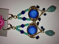 Oorbellen St. Tropez- blauw/turqoise