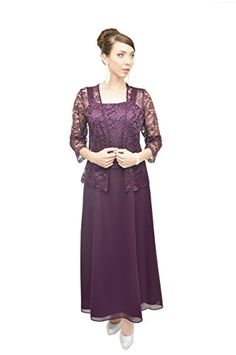 Mother of the Bride Dresses - The Dress Outlet Long Formal Lace Dress Jacket Mother of the Bride >>> Click image to review more details.