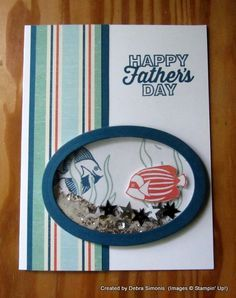 Stampin' Up! Seaside Shore Father's Day, shaker card