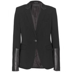 Rag & Bone Timeless Blazer With Leather Cuffs... just the right amount of edge