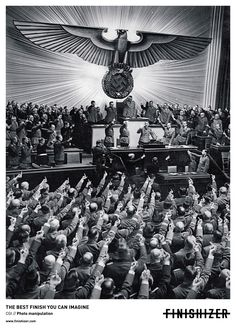 Adolf Hitler receiving salutes from the German Reichstag upon declaring war on the United States, Berlin, Germany, 11 Dec WWII Photographer Heinrich Hoffmann Source German Federal Archive World History, World War Ii, Creative Advertising, Advertising Agency, Advertising Ideas, Ads Creative, Advertising Photography, Creative Director, Disney Marvel