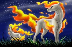 The Ponyta Family by Zerochan923600.deviantart.com on @deviantART
