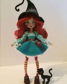 Get easy-to-understand data an Yarn Dolls, Knitted Dolls, Crochet Dolls, Crochet Amigurumi Free Patterns, Crochet Doll Pattern, Unique Crochet, Cute Crochet, Crochet Fairy, Halloween Crochet