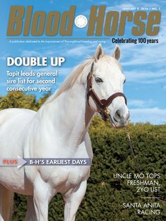 Issue 1: January 9, 2016. Double Up: Tapit leads general sire list for second consecutive year. Also in this issue: Uncle Mo Tops Freshman, 2YO List, Santa Anita Racing, and B-H's Earliest Days.