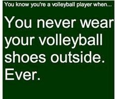 "you know you're a volleyball player when.actually just yesterday I had a tournament and the fire alarm went off and the first thing that popped into my head was ""I better take off my volleyball shoes"" Volleyball Jokes, Volleyball Problems, Volleyball Photos, Volleyball Training, Volleyball Workouts, Coaching Volleyball, Beach Volleyball, Girls Basketball, Girls Softball"