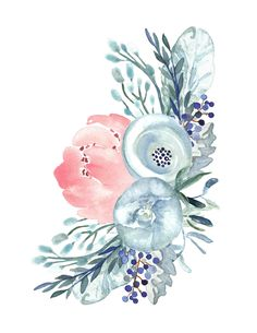 6 Free Printable Floral Watercolour Designs