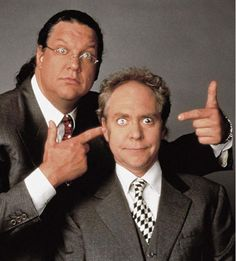 """Penn and Teller depict a good """"Rosencrantz and Guildenstern,"""" in todays world. They are a packaged deal, and listen to what claudius says. Penn and Teller do not talk very much but get their point across."""