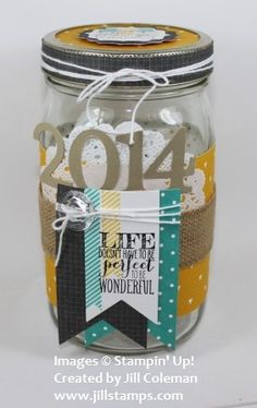 2014 Blessings Jar by jillastamps - Cards and Paper Crafts at Splitcoaststampers