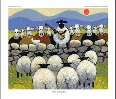 The 'U' Factor - Thomas Joseph ahahah troppo forte Art And Illustration, Illustrations, Sheep Art, Sheep And Lamb, Country Art, Naive Art, Art Graphique, Whimsical Art, Funny Art