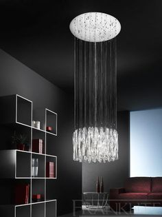 Franklite Lightings Glacial range is available from Luxury Lighting. Stylish, contemporary glass and chrome wall and ceiling lights. Modern indoor lighting for your home. Stairwell Chandelier, Pendant Chandelier, Ceiling Pendant, Chandelier Lighting, Ceiling Lights, Light Pendant, Chandeliers, Luxury Lighting, Lighting Store