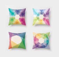 Geometric cushion covers - www.downthatlittlelane.com.au