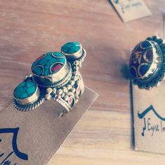 Dome rings were meant to be forever on your fingers! #jewelry #ethicallymade #tibetan#turquoise#om#mantra#online