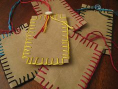 Recycled Brown Paper Bag Gift Tags